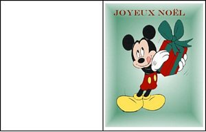 carte message disney 10