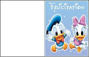 carte message disney 3